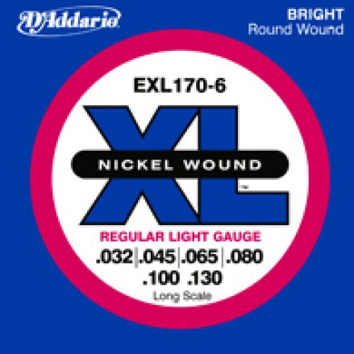 D'ADDARIO AND CO EXL170 6 32 45 65 80 100 130