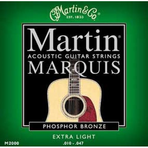 MARTIN GUITARS JEU DE CORDES GUITARE ACOUSTIQUE / FOLK MARQUIS M2000 EXTRA LIGHT 10-14-23-30-39-47