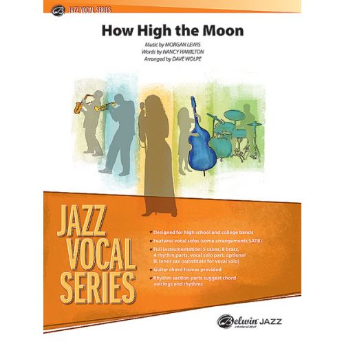 ALFRED PUBLISHING WOLPE DAVE - HOW HIGH THE MOON - VOCAL JAZZ ENSEMBLE