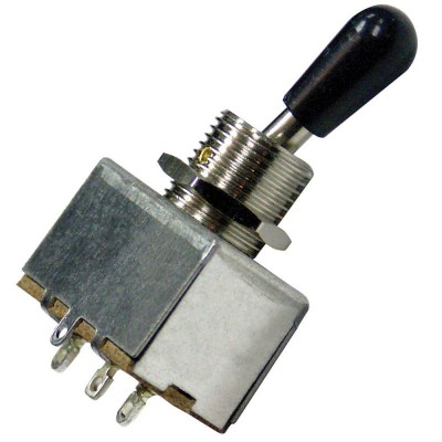 GUITAR TECH GT 3 WAY TOGGLE SWITCH-BLACK -TW3