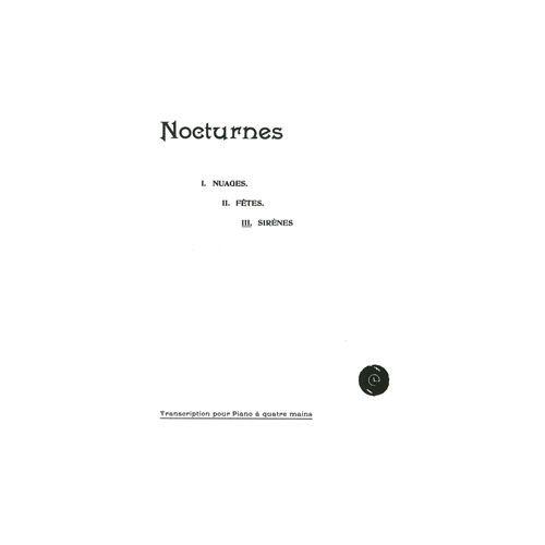 JOBERT DEBUSSY CLAUDE - SIRENES (EXTR. 3 NOCTURNES) - PIANO A 4 MAINS