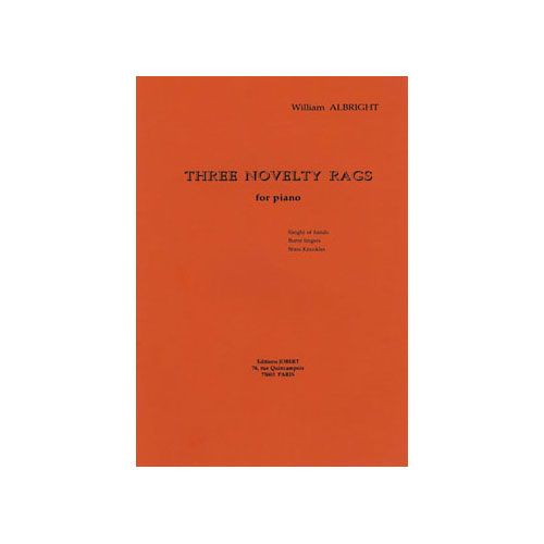 JOBERT ALBRIGHT WILLIAM - NOVELTY RAG (3) - PIANO
