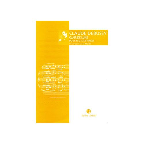 JOBERT DEBUSSY CLAUDE - CLAIR DE LUNE - FLUTE ET PIANO