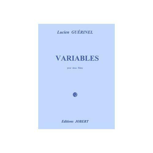 JOBERT GUERINEL LUCIEN - VARIABLES - 2 FLUTES (LA 2DE AUSSI FLUTE EN SOL)