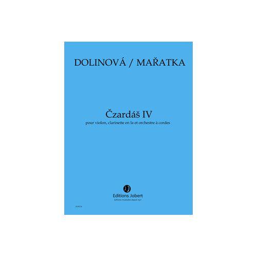 JOBERT MARATKA KRYSTOF / DOLINOVA MILENA - CZARDAS IV - VIOLON, CLARINETTE EN LA ET ORCHESTRE A CORDES