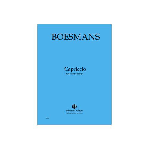 JOBERT BOESMANS PHILIPPE - CAPRICCIO POUR DEUX PIANOS - 2 PIANOS ET ORCHESTRE
