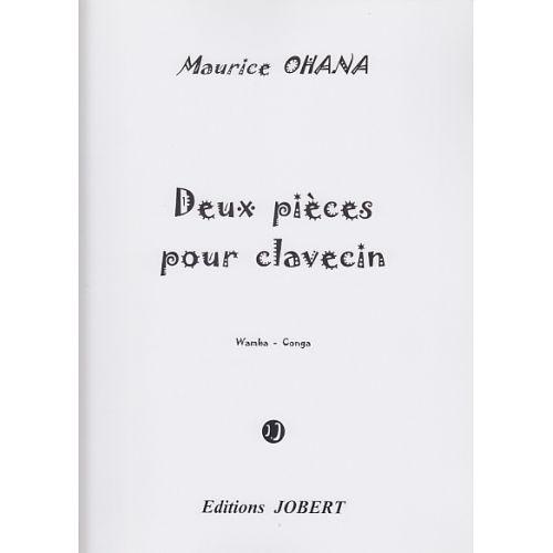 JOBERT OHANA MAURICE - PIECES POUR CLAVECIN (2) WAMBA - CONGA - CLAVECIN