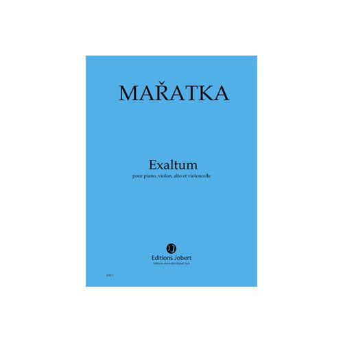 JOBERT MARATKA KRYSTOF - EXALTUM - PIANO, VIOLON, ALTO ET VIOLONCELLE