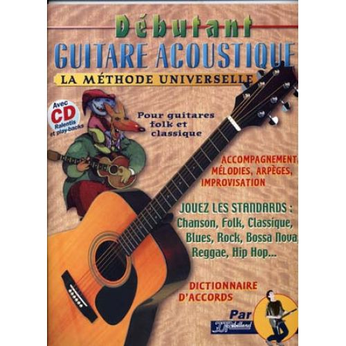 JJREBILLARD DEBUTANT GUITARE ACOUSTIQUE REBILLARD TAB + CD