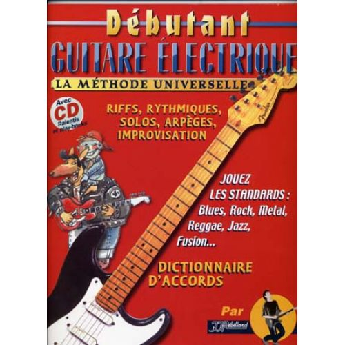JJREBILLARD DEBUTANT GUITARE ELECTRIQUE REBILLARD TAB + CD