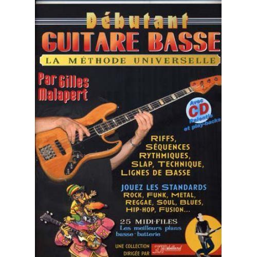 JJREBILLARD DEBUTANT GUITARE BASSE REBILLARD TAB + CD
