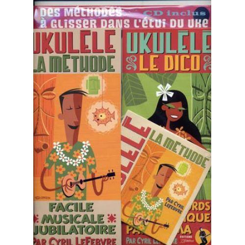 JJREBILLARD UKULELE PACK METHODE/DICO REBILLARD + CD
