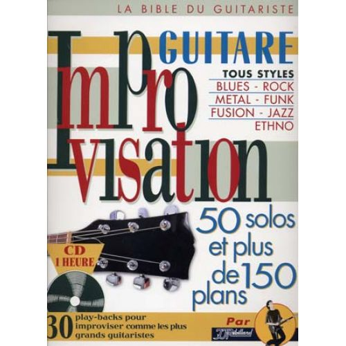 JJREBILLARD IMPROVISATION GUITARE + CD