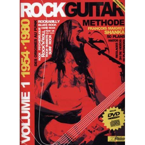 JJREBILLARD ROCK GUITAR METHODE REBILLARD VOL.1 1954/1980 + CD + DVD - GUITARE