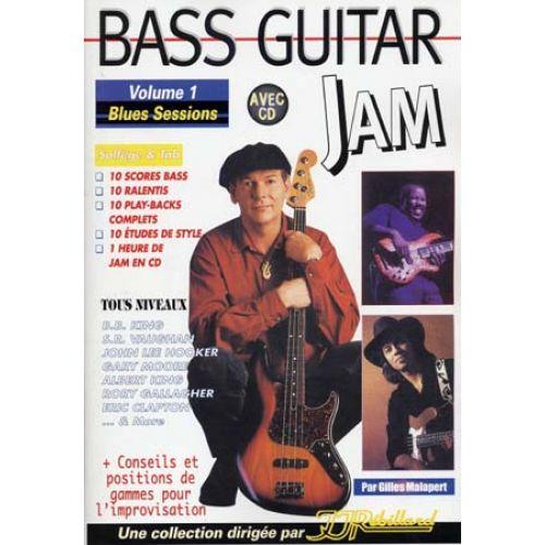 JJREBILLARD MALAPERT G. - BASS GUITAR JAM VOL.1 BLUES SESSIONS + CD