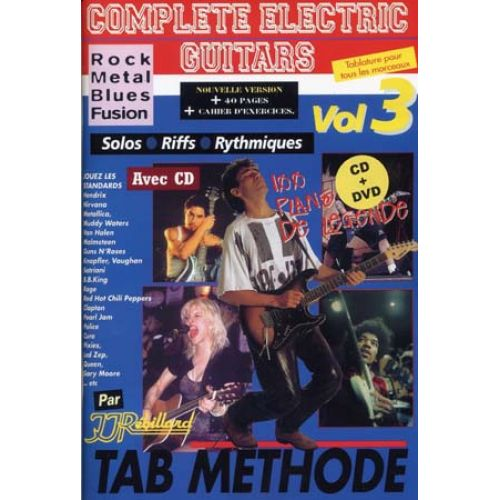 JJREBILLARD REBILLARD J.J. - COMPLETE ELECTRIC GUITARS VOL.3 + CD + DVD
