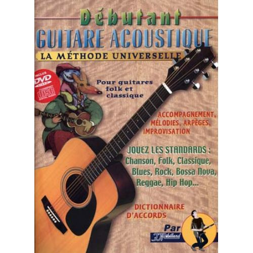 JJREBILLARD REBILLARD - DEBUTANT GUITARE ACOUSTIQUE + CD ET DVD
