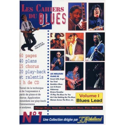 JJREBILLARD CAHIERS DU BLUES VOL.1 - BLUES LEAD + CD - GUITARE