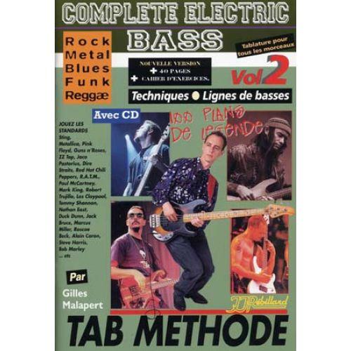 JJREBILLARD MALAPERT G. - COMPLETE ELECTRIC BASS VOL.2 + CD - BASSE