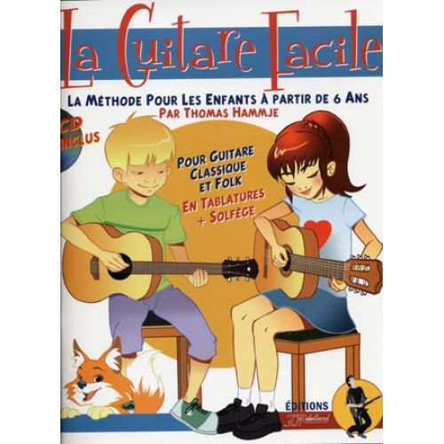 JJREBILLARD GUITARE FACILE METHODE POUR ENFANTS + CD - GUITARE