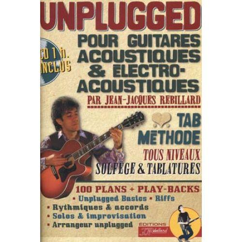JJREBILLARD UNPLUGGED GUITARES ACOUSTIQUES + CD