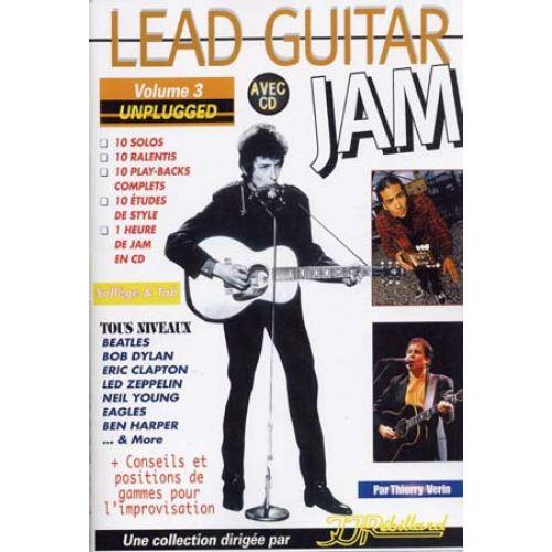 JJREBILLARD LEAD GUITAR JAM VOL.3 - UNPLUGGED + CD - GUITAR TAB