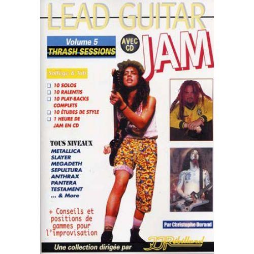 JJREBILLARD LEAD GUITAR JAM VOL.5 - TRASH SESSIONS + CD - GUITAR TAB