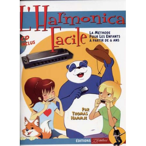 JJREBILLARD HAMMJE T. - HARMONICA FACILE METHODE POUR ENFANTS + CD