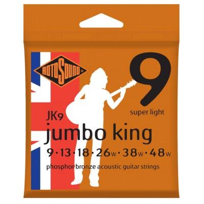 ROTOSOUND JUMBO KING PHOSPHOR BRONZE SUPER LIGHT 9 13 18 26 38 48