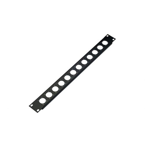 KM 28312-000-55 PANEL BLACK FOR 12 XLR CONNECTORS