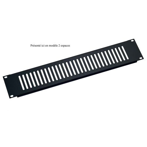 KM 28451-000-55 VENTILATION PANEL BLACK 1 SPACE