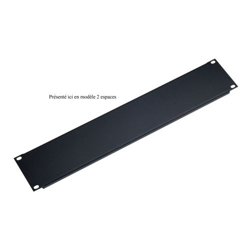 KM 49411-000-55 PANEL BLACK 1 SPACE FOR RACK 19