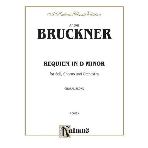 ALFRED PUBLISHING BRUCKNER ANTON - REQUIEM D MINOR - VOCAL SCORE