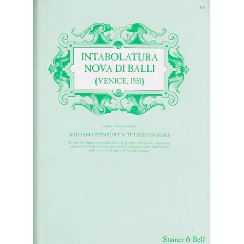 STAINER AND BELL INTABOLATURA NOVA DI BALLO - CLAVECIN (ORGUE)