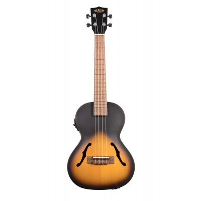 KALA CROSSOVER ARCHTOP HOLLOW TENOR ELECTRO-ACOUSTIC TOBACCO
