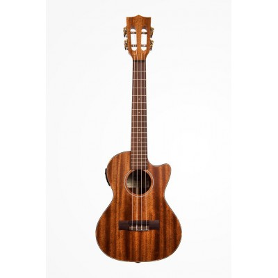 KALA SOLID MAHOGANY TENOR CUTAWAY ELECTRO-ACOUSTIC CUTAWAY BOOK WITH COVER