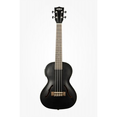 KALA CROSSOVER ARCHTOP HOLLOW TENOR ELECTRO-ACOUSTIC SATIN METALLIC METALLIC BLACK