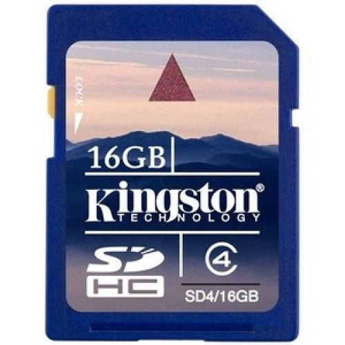 KINGSTON SDHC CARD 16GO CLASS 4