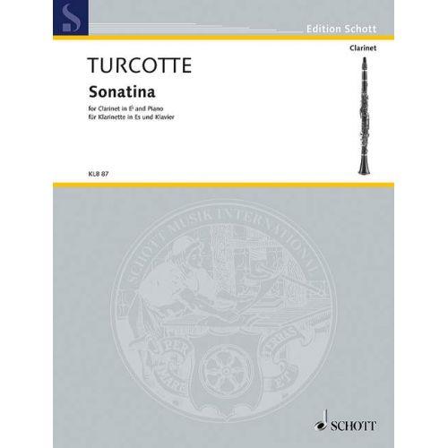 SCHOTT TURCOTTE A.M. - SONATINA - CLARINETTE