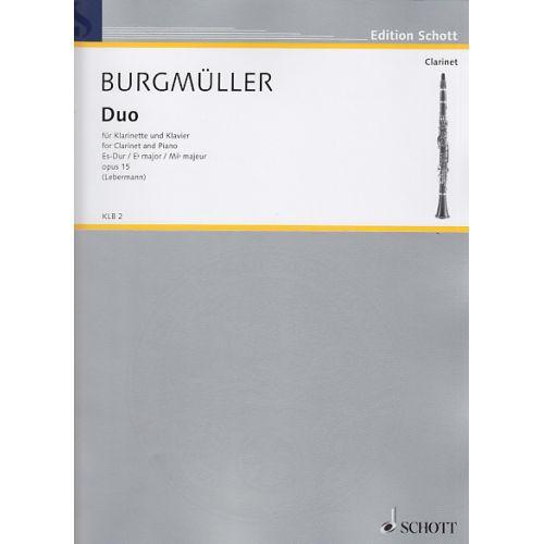 SCHOTT BURGMÃœLLER N. - DUO ES-DUR - CLARINETTE ET PIANO