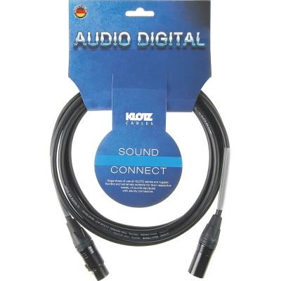 KLOTZ DC2XNX010 CABLE AES/EBU 110 OHMS XLR 10 M