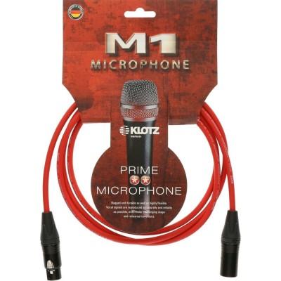KLOTZ M1 MIC CABLE RED 2M XLR 3P. F/M NEUTRIK