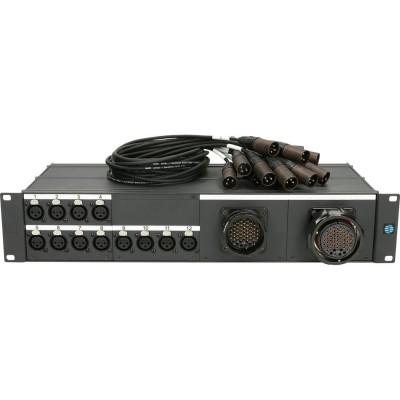 KLOTZ MISSET12XFMRMFM MIS SET 12 CHANNELS 4X 1:1 SPLIT RMP F/RMP M/XLR F(BOX)/XLR M