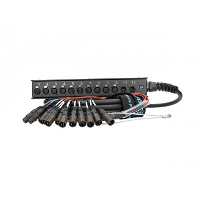 KLOTZ SLW102XE20 STRAIGHTLINK 12CH. XLR/XLR IN:10/OUT:2;CABLE: PW12 20M