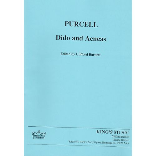 KING'S MUSIC PURCELL H. -DIDO AND AENEAS - CONDUCTEUR