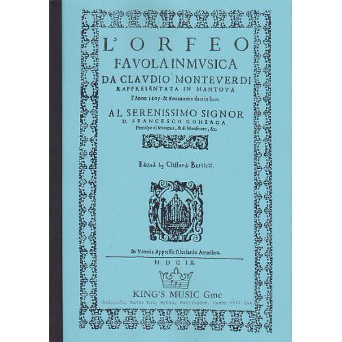 KING'S MUSIC MONTEVERDI C. - L'ORFEO, FAVOLA IN MUSICA 1607