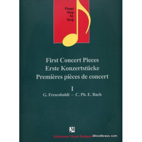 KONEMANN PREMIERES PIECES DE CONCERT Vol.1 PIANO STEP BY STEP