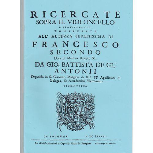 KING'S MUSIC DEGLI ANTONI - RICERCATE OP.1 (1687) - VIOLONCELLE SOLO