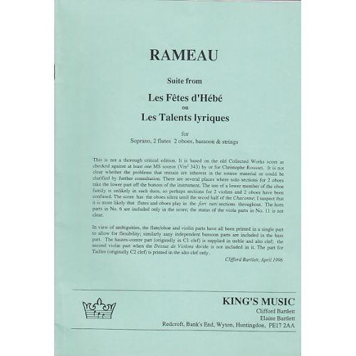KING'S MUSIC RAMEAU SUITE FROM : LES FêTES D'HéBé OU LES TALENTS LYRIQUES