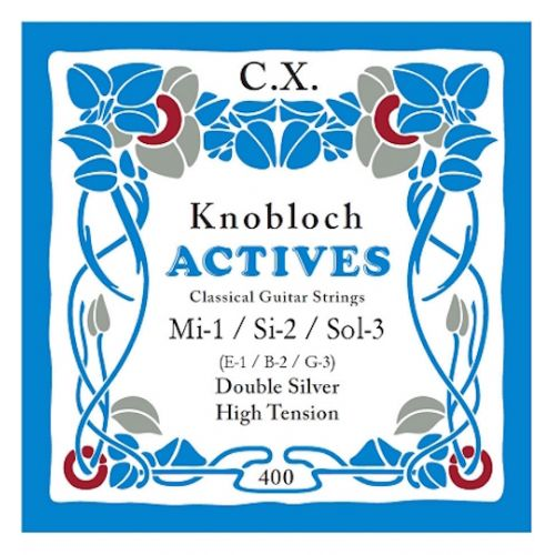 KNOBLOCH 408KAC 3 TREBLE STRINGS SET E B G CARBON HIGH TENSION